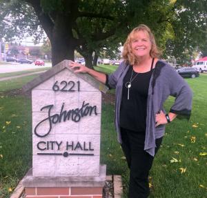 Rhonda Martin at Johnston City Hall