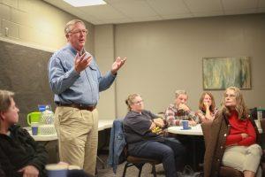 Water expert Chris Jones at Educating Rhonda