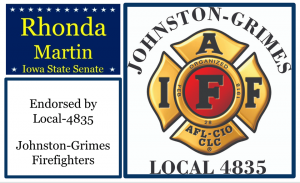 Johnston-Grimes Firefighters Local endorsement