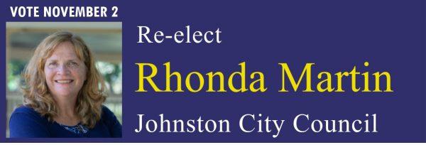 re-elect rhonda martin, johnston city council